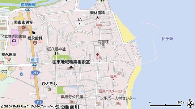 大分県国東市国東町鶴川437周辺の地図