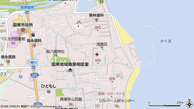 大分県国東市国東町鶴川439周辺の地図