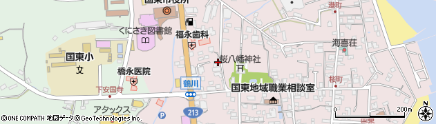 大分県国東市国東町鶴川204周辺の地図