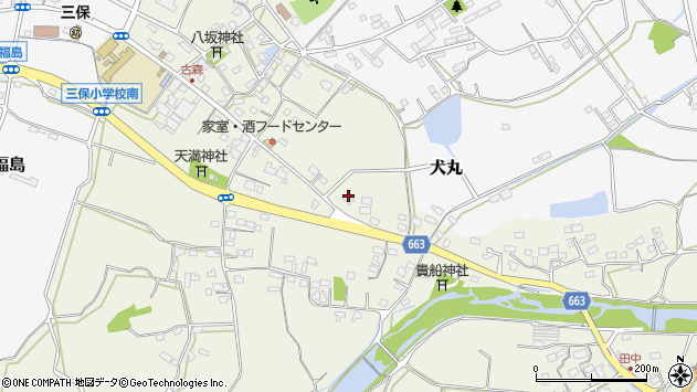 大分県中津市伊藤田2723-1周辺の地図