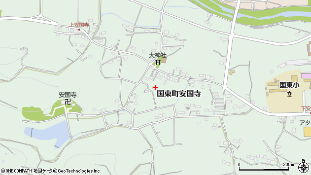 大分県国東市国東町安国寺1035周辺の地図