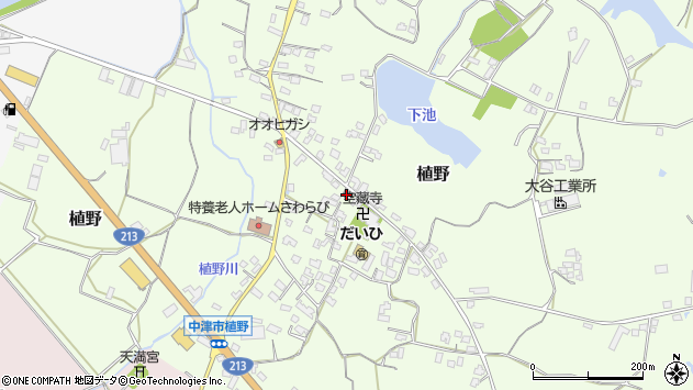 大分県中津市植野271周辺の地図