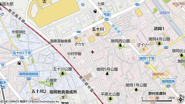 福岡県福岡市博多区諸岡3丁目周辺の地図