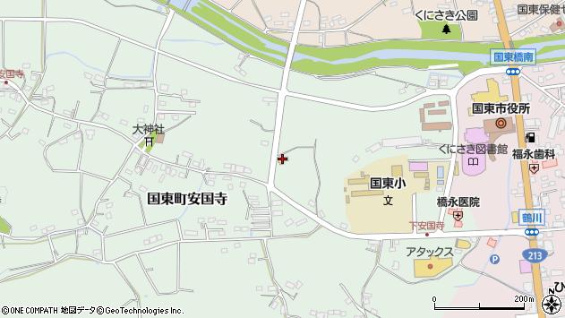 大分県国東市国東町安国寺911周辺の地図
