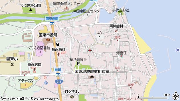 大分県国東市国東町鶴川79周辺の地図