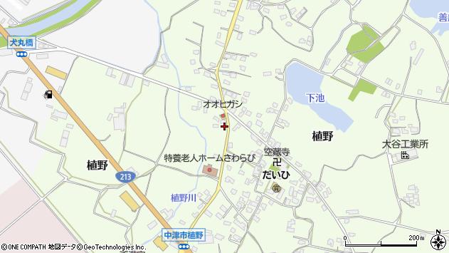 大分県中津市植野1285周辺の地図