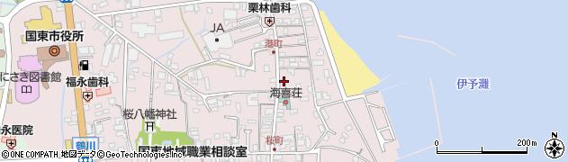 大分県国東市国東町鶴川448周辺の地図