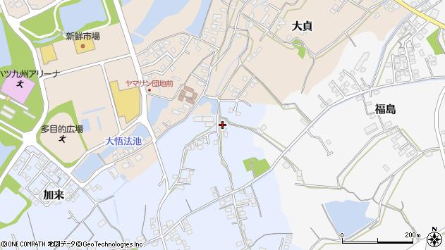 大分県中津市加来478周辺の地図