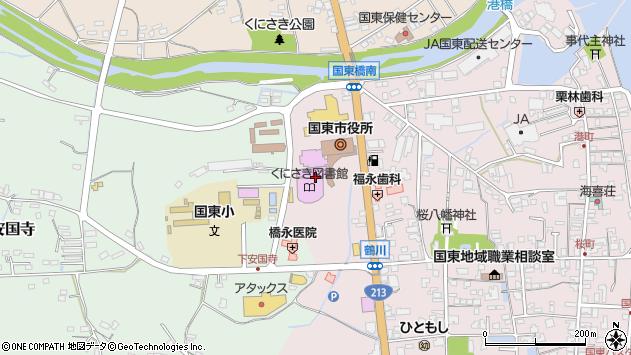 大分県国東市国東町鶴川160周辺の地図