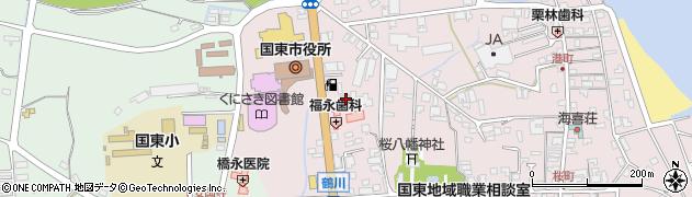 大分県国東市国東町鶴川112周辺の地図