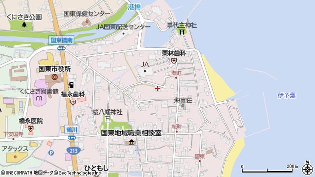 大分県国東市国東町鶴川269周辺の地図