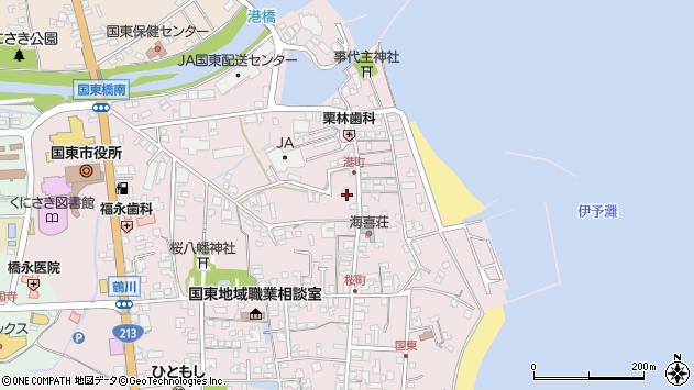大分県国東市国東町鶴川408周辺の地図