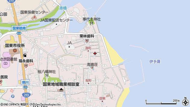大分県国東市国東町鶴川360周辺の地図