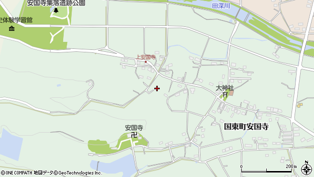 大分県国東市国東町安国寺1408周辺の地図