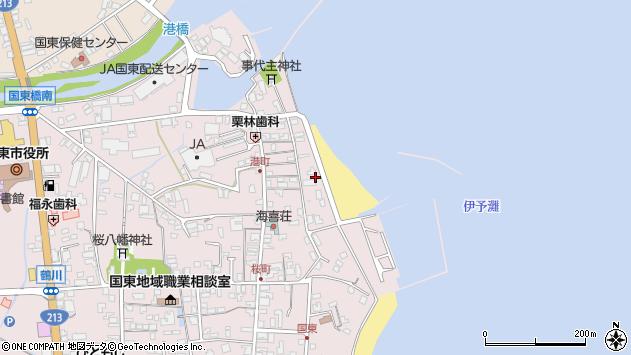 大分県国東市国東町鶴川343周辺の地図