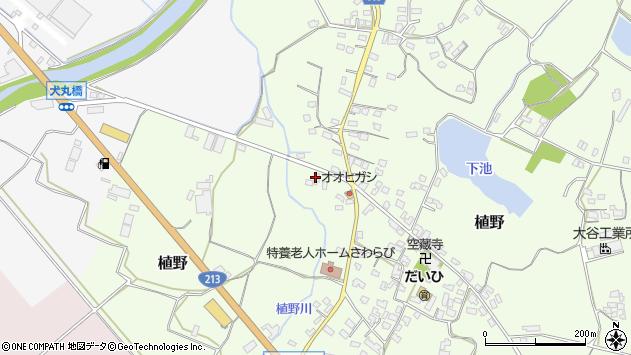 大分県中津市植野1303周辺の地図
