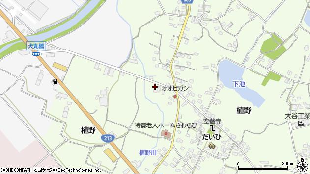 大分県中津市植野136周辺の地図