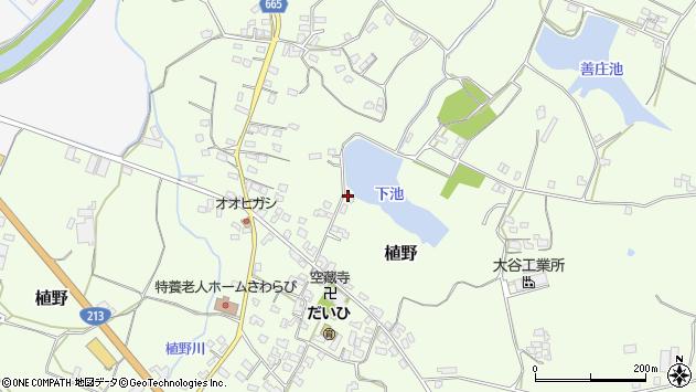 大分県中津市植野1128周辺の地図