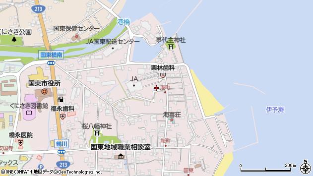 大分県国東市国東町鶴川296周辺の地図