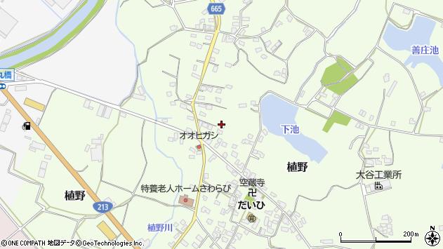 大分県中津市植野1156周辺の地図