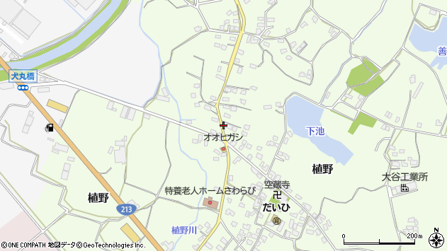 大分県中津市植野1116周辺の地図