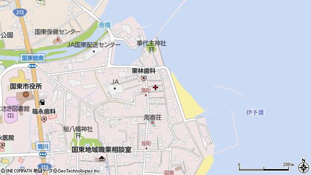 大分県国東市国東町鶴川375周辺の地図