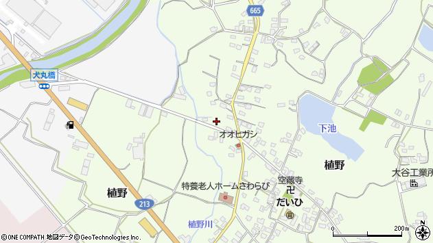 大分県中津市植野1304周辺の地図