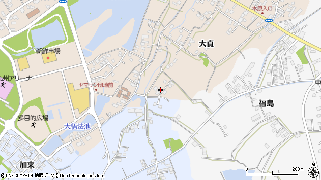 大分県中津市大貞36周辺の地図