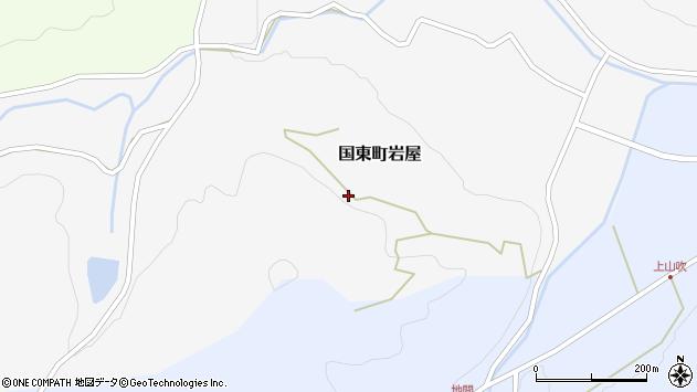 大分県国東市国東町岩屋横道周辺の地図