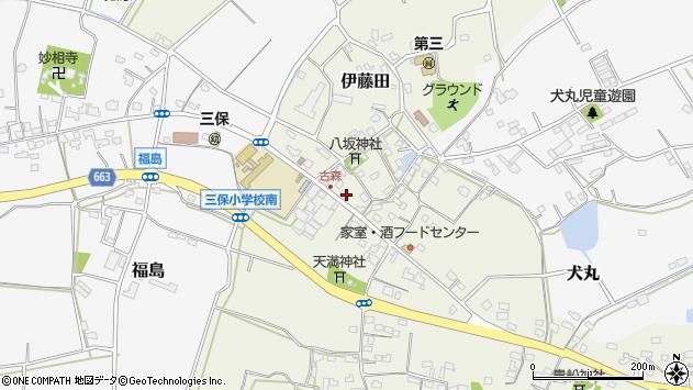大分県中津市伊藤田周辺の地図