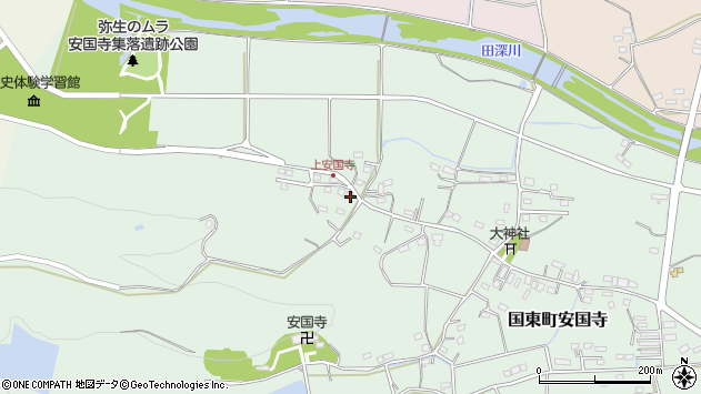 大分県国東市国東町安国寺1532周辺の地図