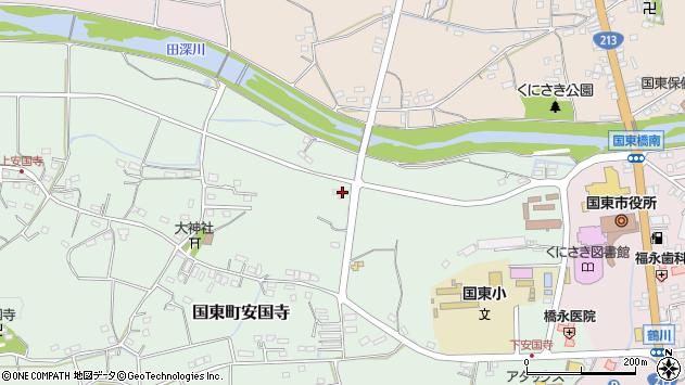 大分県国東市国東町安国寺846周辺の地図