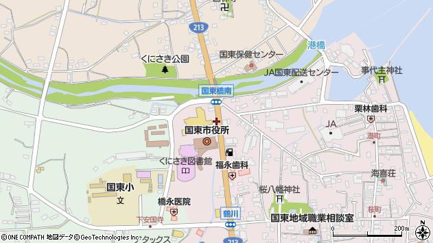 大分県国東市国東町鶴川123周辺の地図