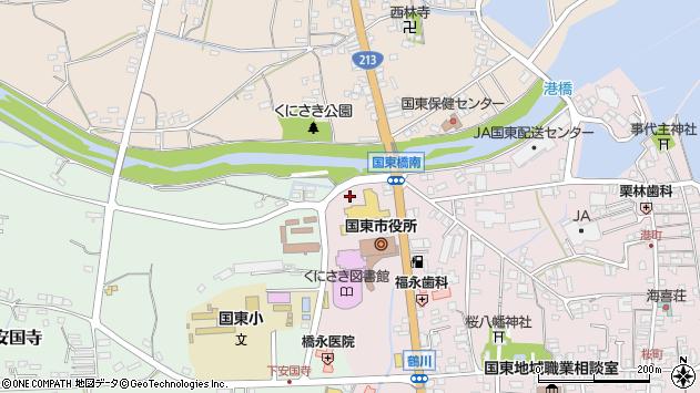 大分県国東市国東町鶴川129周辺の地図