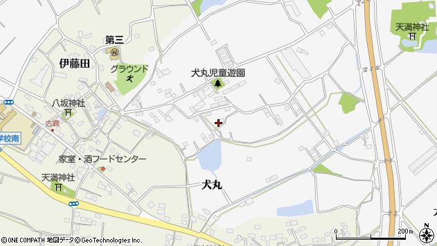 大分県中津市犬丸2189周辺の地図