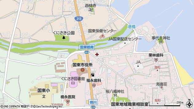 大分県国東市国東町鶴川10周辺の地図
