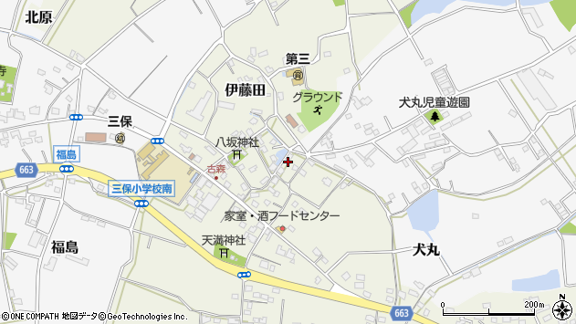 大分県中津市伊藤田3164周辺の地図