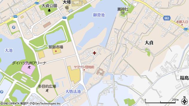 大分県中津市大貞385周辺の地図