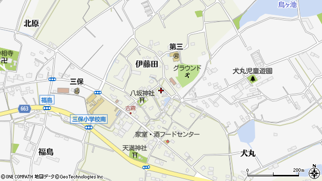 大分県中津市伊藤田3140周辺の地図