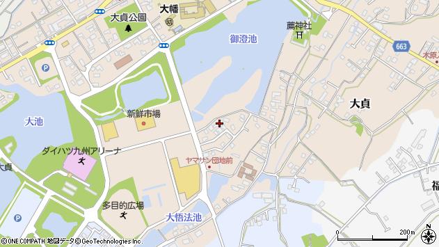 大分県中津市大貞386周辺の地図
