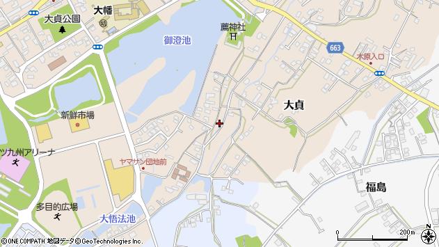 大分県中津市大貞167周辺の地図