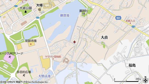 大分県中津市大貞168周辺の地図