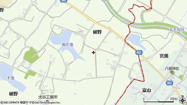 大分県中津市植野1669周辺の地図