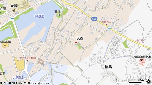 大分県中津市大貞69周辺の地図