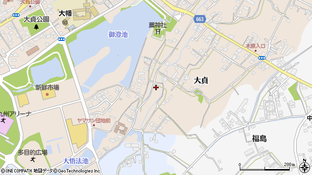 大分県中津市大貞156周辺の地図