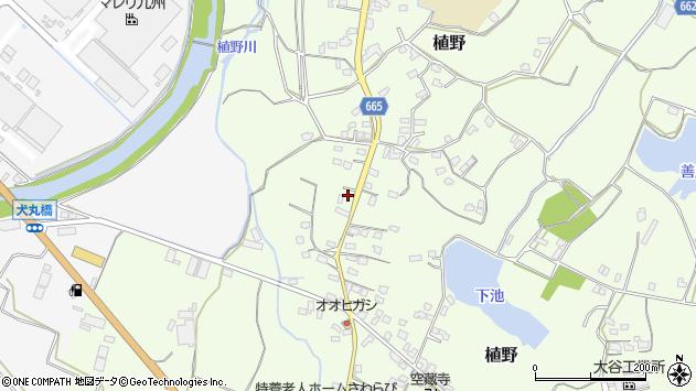 大分県中津市植野1249周辺の地図