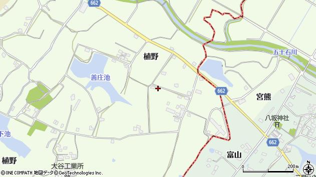大分県中津市植野1653周辺の地図
