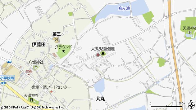 大分県中津市犬丸2187周辺の地図