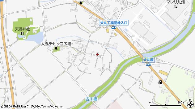 大分県中津市犬丸834周辺の地図