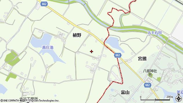 大分県中津市植野1656周辺の地図